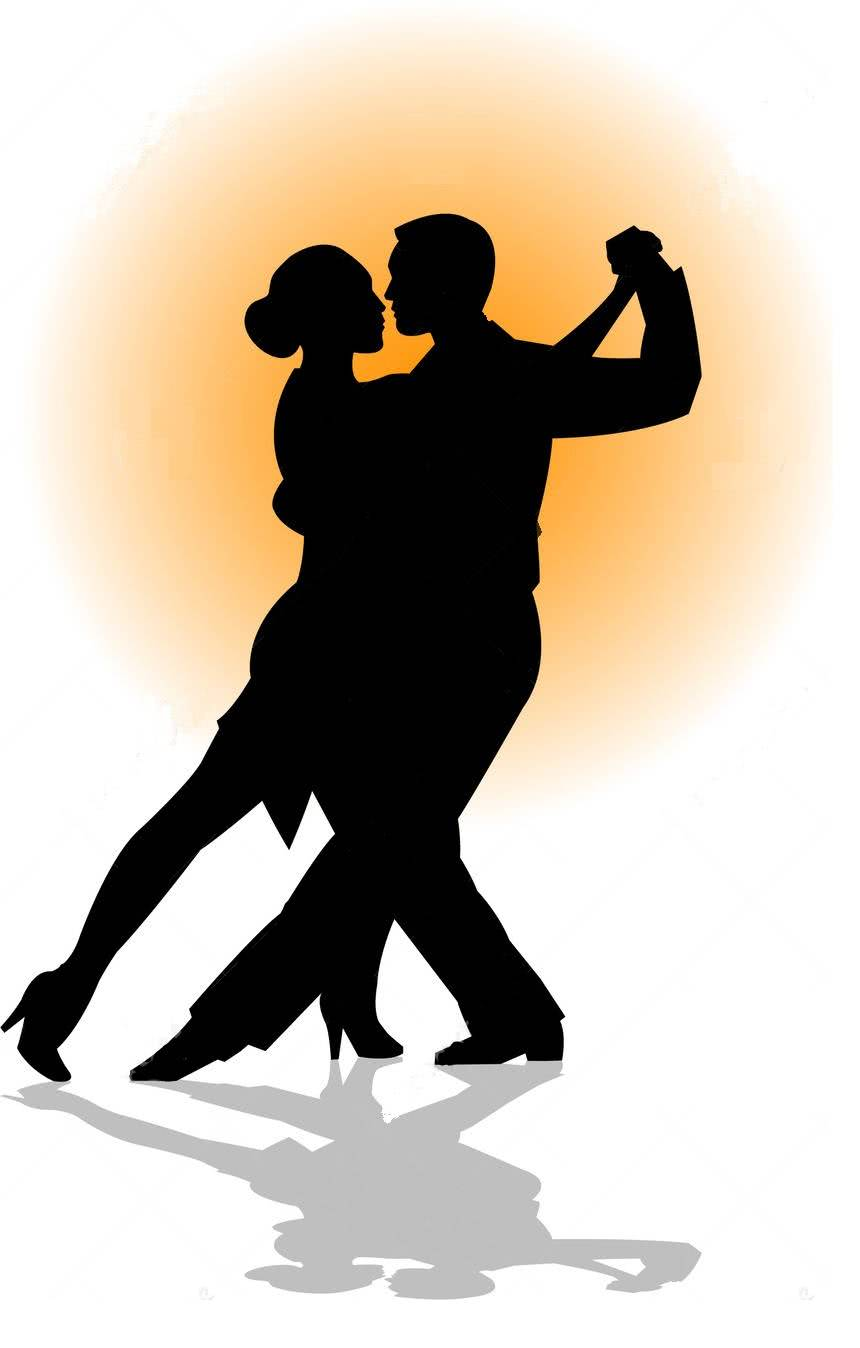 tango dance couple siluet big